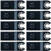 10x Oscillating HCS 34mm x 40mm Plunge Cut Multi