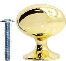 10x Polished Brass Oval Cabinet Knobs - Kitchen