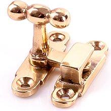 10x Solid Brass Cabinet Showcase Fastener Catches
