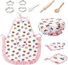 11 Pcs Kids Cooking and Baking Set Kids Chef Role
