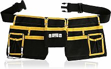 11-Pocket Adjustable Tool Belt Bag Tool Organizer