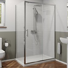 1100 x 760mm Sliding Shower Door & Panel 6mm