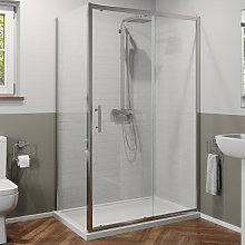 1100 x 800mm Sliding Shower Door & Panel 6mm