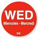 1100523 - Wednesday - 19mm Circle Label DuraMark