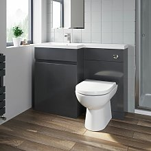 1100mm Bathroom Vanity Unit Basin Sink Toilet