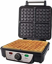 1100W Electric Stainless Steel 4 Slice Quad Waffle