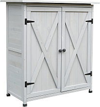 110x117cm Wooden Garden Tool Shed w/ Asphalt Roof
