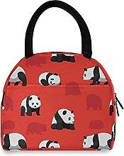 1111Bear Panda Lunch Bag Cooler Bag Insulated