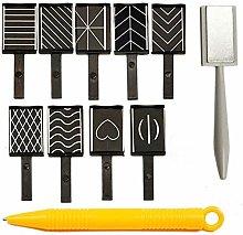 11pcs/Set Nail Art Tool Magnet Pen for DIY Magic