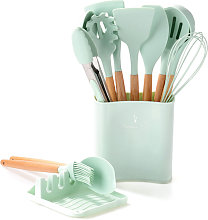 11PCS Silicone Cooking Utensil Sets Nonstick Heat