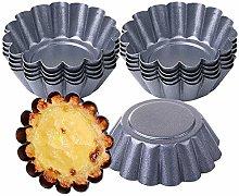 12/24 pcs Egg Tart Mould Mini Tart Pans Muffin