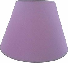 12'' Lilac Cotton Fabric Lampshade Light