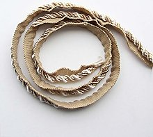 12.5m/7mm Gold Thick Rope Piping Lip Cord Trim