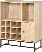 12 Bottle Freestanding Wine Cabinet Sideboard