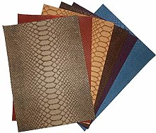 12 cols Snake Skin Textured Faux Leather PVC
