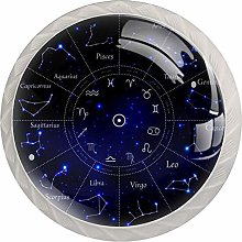 12 Constellation Astrolabe Blue 4 Pieces Crystal