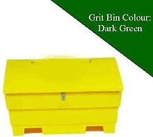 12 Cu Ft Lockable Grit Salt Storage Bin in Dark