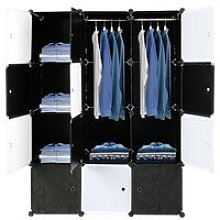 12 Cube Organizer Stackable Plastic Cube Storage