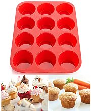 12 Cup Silicone Muffin Tray Large Muffin Pan