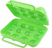 12 Grids Egg Holder Camping, Folding Plastic Egg