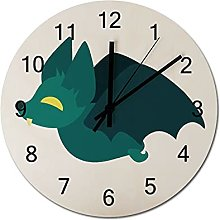 12 Inch Non Ticking Silent Wooden Clock Cartoon
