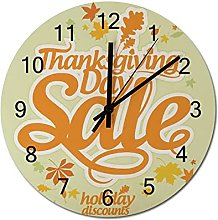12 Inch Non Ticking Silent Wooden Clock Thanks