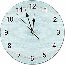 12 Inch Round Wood Wall Clock, Battery Operated,