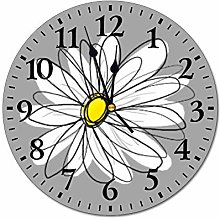 12 Inch Silent Vintage Wooden Round Wall Clock Non