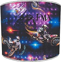 12 Inch Table motocross supercross lampshades9