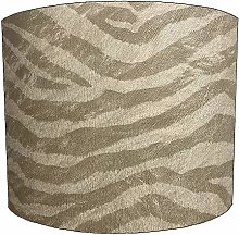 12 Inch taupe zebra print Design Lampshade For a