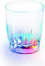 12 LED Flashing Shot Glasses Novelty Plastic Light