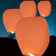 12 Orange - Chinese Flying Sky Lanterns (A Liittle