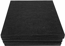 12 Pack Acoustic Absorption Panel Gray Black
