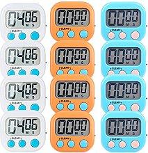 12 Pack Small Digital Kitchen Timer Magnetic Back