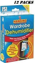 12 PACKS HANGING WARDROBE Interior Dehumidifier