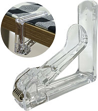 12 Pcs Clear Plastic Table Cloth Clips Table Cover