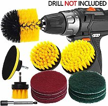 12 Pcs Drill Brush Car Detailing Kit with Extend