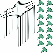 12 Pcs Half-Round Plant Support Frame and 15 Pcs