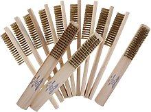 12 Pieces Copper Wire Brush Clean Spark Plug BBQ