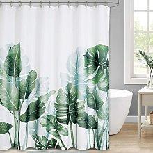 12 Plastic Hooks Shower Curtain with Hooks, Banana