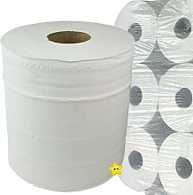 12 Rolls Centrefeed White 2ply Paper Towels
