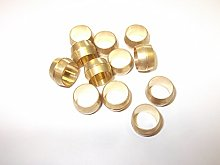 12 x 4mm Brass Olives Compression Pipe Fitting