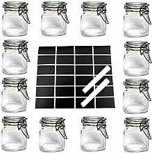 12 X Mini Glass Clip TOP Spice Storage Preserving