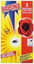 12 x VAPONA FLY KILLER WINDOW STICKERS RED ROSE (2