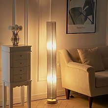 120 cm Tall Floor Lamp Lighting Linen Shade Round,