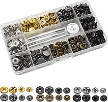 120 Pcs Leather Snap Fasteners Kit, Copper Snaps