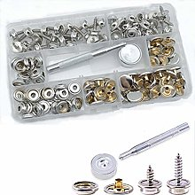 120-Pieces Stainless Steel Snap Button Kit Marine