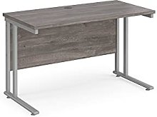 1200 x 600mm SLIMLINE Straight Office Desk Grey Oak