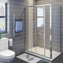 1200 x 700 mm Sliding Shower Enclosure 6mm Glass