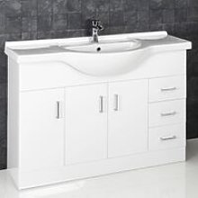 1200mm Bathroom Vanity Unit & Basin Floorstanding